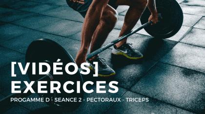 Vidéos des mouvements du programme D : développer sa force